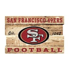 San Francisco 49 Ers Xxl Wooden Sign 29 7/8in Nfl Football, Plank Wood Sign