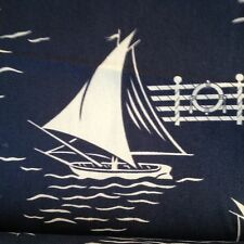 Ralph Lauren barcos de vela 1.00 MTR Impreso 70% algodón 30% Nylon