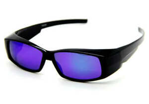 POLARISED FIT OVER SUNGLASSES WRAPAROUND MOST GLASSES UV400 BLUE