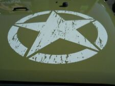 2012+ Jeep Wrangler White Freedom Edition Star hood and rear fender decal emblem
