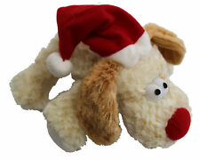 Petface Christmas Doggy Santa Squeaky Puppy Dog Toy