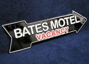 BATES MOTEL Arrow -*US MADE*- Embossed Metal Sign - Man Cave Garage Bar Decor