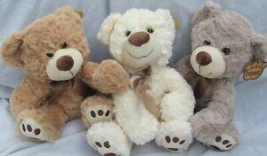 Soft bear plush teddy POSH PAWS  30cm Fluffy, cuddly  CE safety marked NEW