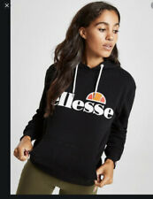 ELLESSE LADIES BLACK HOODIE UK SMALL BNWOT