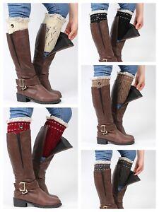 Boot Cuffs Ladies / Women knitted Boot Cuff / Leg Warmers.