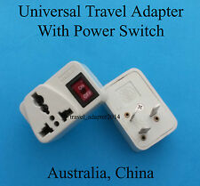 Universal UK USA AUS EURO to Australia China Travel Plug Adapter with Switch New