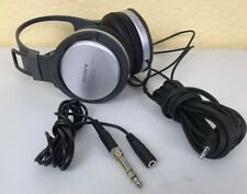 Sony MDR-XD100 Headband Headphones Silver/Black With Large Plug Adapter