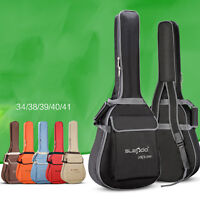 "Folk Acoustic Guitar Gig Bag Soft Case Strap Padded for 38/39/40/41"" Waterproof"