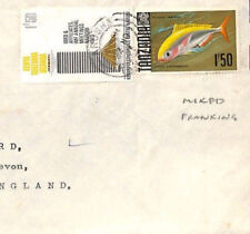 BT261 1973 British KUT/Tanzania FISH MIXED FRANKING Commercial Air Mail Cover
