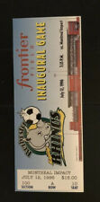 ROCHESTER RAGING RHINOS SOCCER INAUGURAL GAME FULL TICKET FRONTIER FIELD