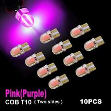 10PCS T10 W5W 194 168 LED COB silicone shell Side Wedge Light Bulbs Pink Purple