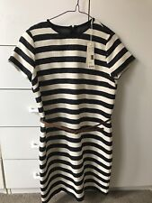 Esprit Nautical Hampton Style Stripes Shirt Dress With Brown Belt-Size 6/S