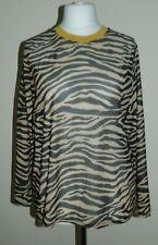 TU Woman Tiger Print Mesh Sheer Ladies Long Sleeve Top Size UK 20