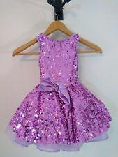Weissman Purple Sequin Satin Dance Costume SC Girls