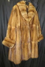 "EXCLUSIVE Golden Russian Sable Fur Coat L 10 12 Sweep 80"" $35000"