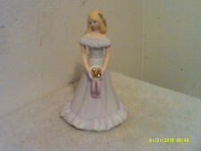 "Vintage Growing Up Birthday Girl #16 w/ Blonde Hair 7.0"" Tall Figure by Enesco"