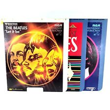 Beatles Bundle Original RCA SelectaVision Video Discs Collectible Rare 3 Disc