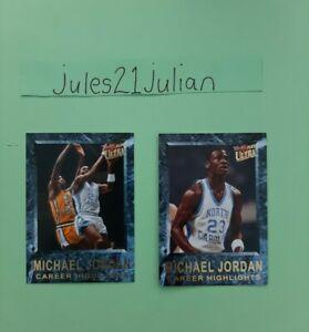 2013/14 Fleer Retro Michael Jordan 2 Insert Cards Tar Heels NBA Super⭐🏀😲