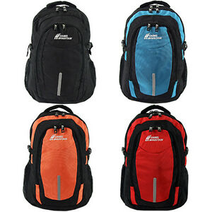 Large School Backpack Bag Travel Luggage Rucksack Hiking Black Blue Orange Red