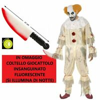 Costume Adulto da Uomo Clown Pagliaccio IT Mens Pennywise Halloween Carnevale