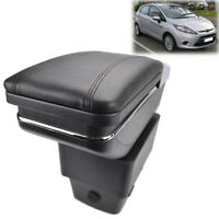 Storage Box Arm Rest For Ford Fiesta 2009-2017 Rotatable Armrest