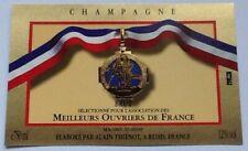 THIENOT ALAIN- ETIQUETTE CHAMPAGNE- MÉDAILLE- MEILLEURS OUVRIERS DE FRANCE #9451