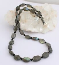 Labradorite with Spinel Necklace PRECIOUS STONE FACETED OVAL SHAPE PRETTY
