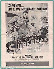 "KIRK ALYN in ""Superman"" - Original Vintage PRESSBOOK Spanish - RARE TO FIND 1948"
