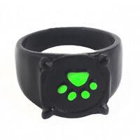 Fashion Cat Noir Cartoon Green Pawprint Black Cat Metal Ring For Cosplay 1Pc