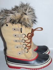 Women's Sorel Mukluk Winter Boots Genuine Leather With Faux Fur Size 6 NICE