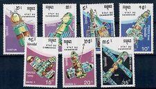 (W0992) CAMBODIA, 1990, SPACE, MI 1177/83, SET, MNH/UM, SEE SCAN