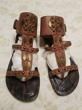 Jessica Simpson Gladiator Sandals Size 5.5 Brown Studded