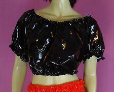 Dirndl pulli pullover blouse black adult neu L pvc plastic NEU Diargh
