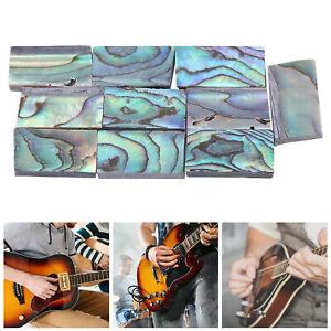 10 Pcs Abalone Shell Inlay Set Guitars Inlay Material for Guitars Mandolins
