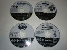 Nintendo GameCube Lot Of 4 MADDEN Games - Disc Only