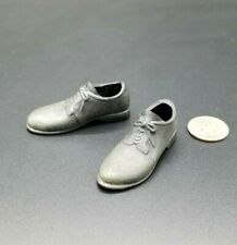 "1:6 Sideshow Mens Weathered Black Shoes 12"" GI Joe WWII German Police Civil War"