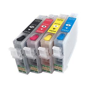 Refill CISS Wiederbefüllbare Patronen für Epson T502 WF-2860 WF-2865 no OEM 502