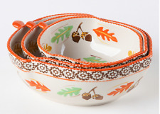 New listing Temp-tations Seasonal Set of 3 Figural Bowls Harvest New H219284