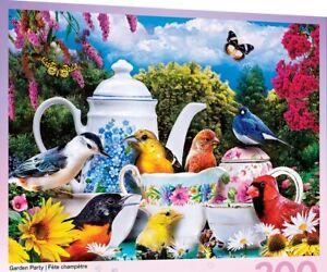 Jigsaw Puzzle Animal Birds Garden Party 300 EZ Grip pieces NEW Karen Burke