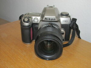 Nikon F80 35mm SLR Film Camera + Nikon AF Nikkor 28-80mm Lens - Good Condition