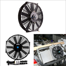"Car SUV Slim Electric Plastic Cooling Fan Radiator With Mounting Kit 12"" 12V 80W"