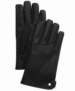 CALVIN KLEIN Men's Winter Gloves Black Large Lined NEW