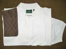 Large Rh Brown Micro Trap Pad White Pique Polo Shooting Shirt/Outer Banks