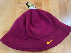 NWT NIKE Maroon & Gold Knit BUCKET HAT Fleece Lined Adult Unisex Sz S/M - USC VT