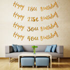 1.5M Gold Happy Birthday Bunting Banner 18th 21st 30th 40th Party Decor Garland