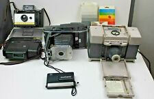 Vintage Camera Lot of Box Style Cameras &  Flash's  Hard Carry Case Equipment