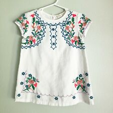 Zara Baby Girl Collection Embroidered Dress Size 2 3 Rare Hard To Find White
