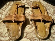 Men US 8 to 11 Handmade Leather Sandal Shoes Kolhapuri Mojari Flip Flop