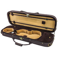 NEW Quality 4/4 Size Acoustic Violin Fiddle Case Brown/Brown/Khaki w/ Strap
