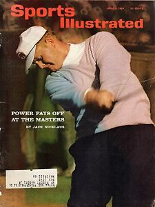 1964 4/6 Sports Illustrated Magazine,Golf,Jack Nicklaus Power at the Masters~FrS